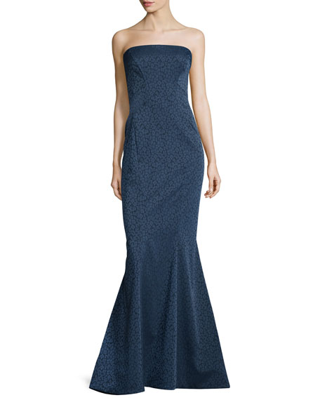 Zac Posen Strapless Leopard-Print Mermaid Gown, Beluga