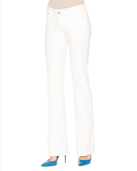 Dolce & GabbanaMid-Rise Boot-Cut Jeans, White