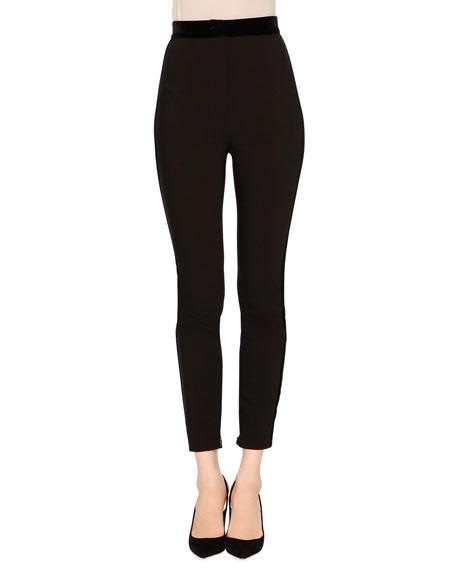 Dolce & Gabbana High-Waist Skinny Trousers, Black
