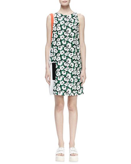 Stella McCartney Odile Floral-Print Colorblock Shift Dress