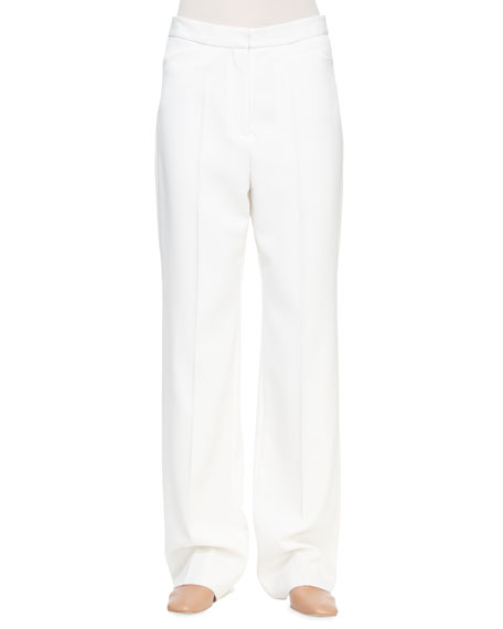 Stella McCartney Slim-Fit Lined Trousers, Ivory