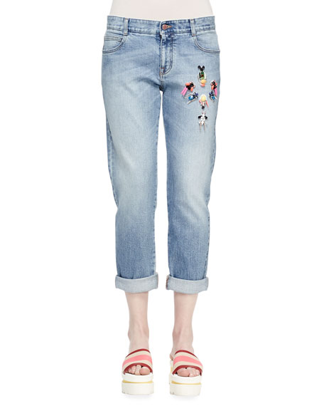 Stella McCartneyTomboy Gem-Embellished Jeans, Classic Blue