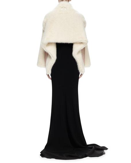 Alexis Faux-Fur Shrug, Linen