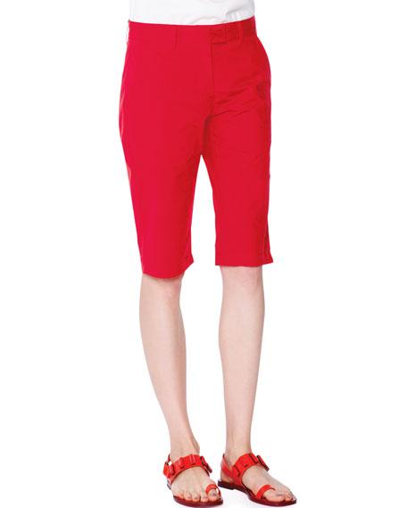 Tomas Maier Slim-Fit Walking Shorts, Fire