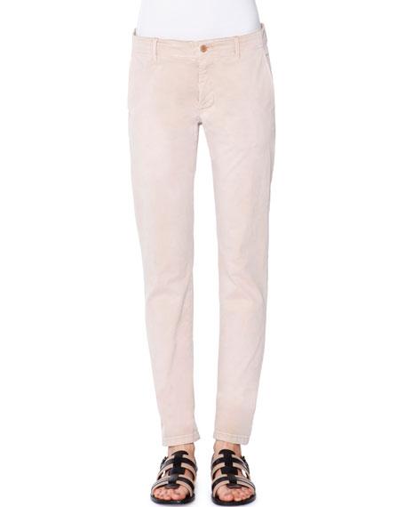 Tomas Maier Low-Rise Slim-Leg Pants, Chino
