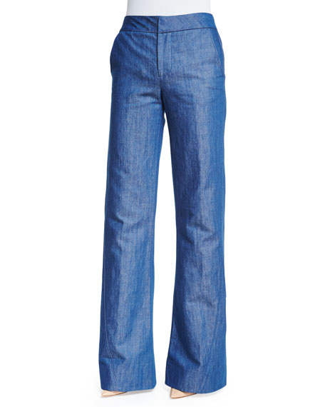 Co High-Waist Wide-Leg Jeans, Indigo