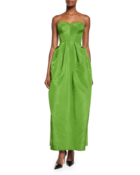 Zac Posen Strapless Sweetheart Full-Skirt Gown