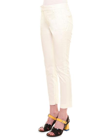 Jil Sander Mid-Rise Capri Pants, White