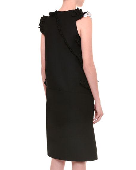Radzimir Sleeveless Dress W/Ruffles, Black