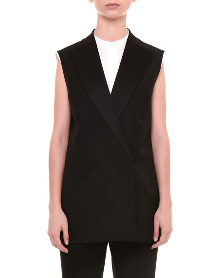 Jil Sander Sleeveless Long Jacket, Black