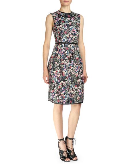 Erdem Sleeveless Gloria Garden Sheath Dress, Pink Multi