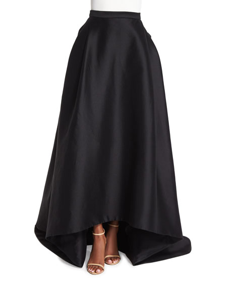 carolina herrera high low skirt black