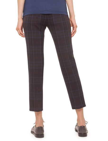 Akris punto Frankie Plaid Ankle Pants, Multi Colors