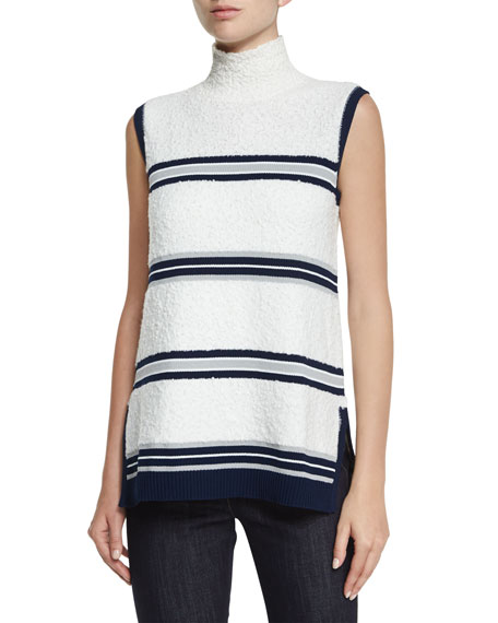Derek Lam Turtleneck Sleeveless Combo Top & Hanne