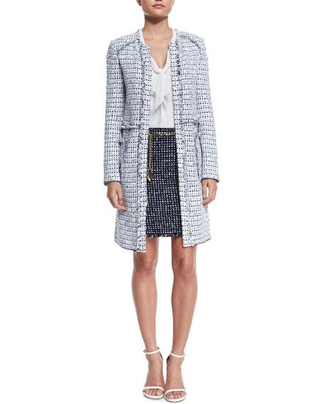 Monte Solaro Knit Mini Skirt, Navy Multi