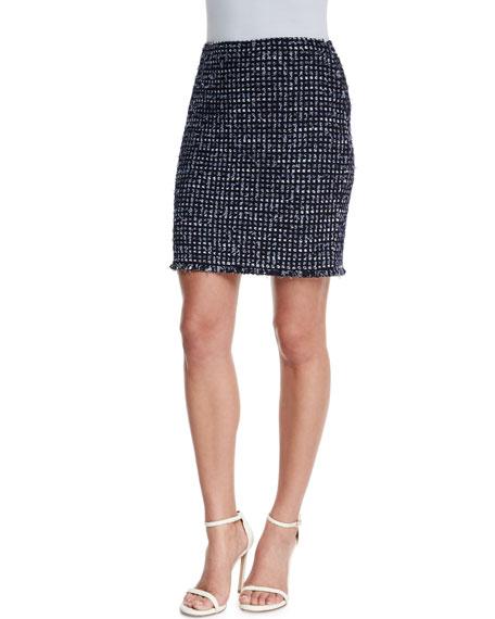 St. John Collection Monte Solaro Knit Mini Skirt,