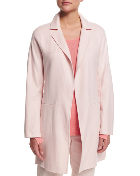 Loro Piana Long-Sleeve Belted Cashmere Coat, Rosebud Pink