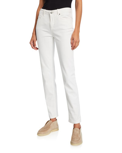 Mathias Slim-Leg Ankle Jeans, White