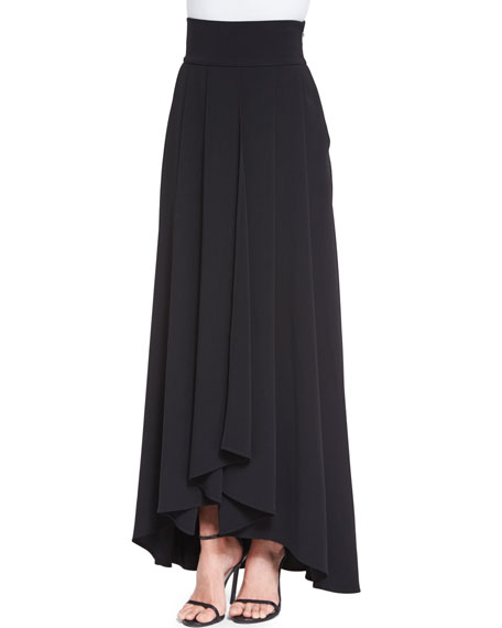 St. John Collection Classic Cady Gown Skirt, Caviar