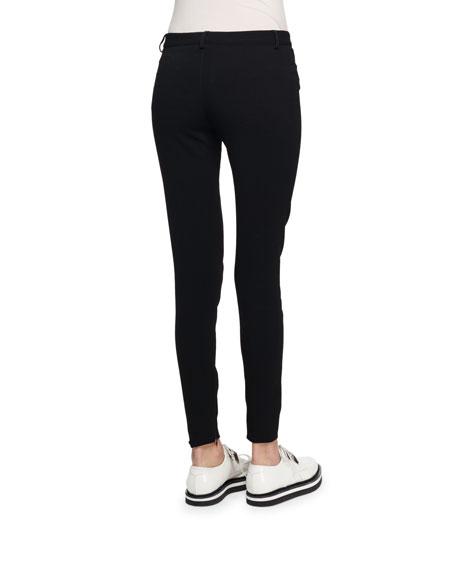 Ankle-Zip Legging Pants, Black