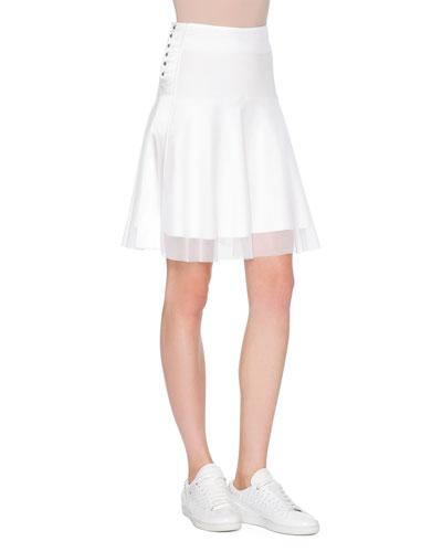 A-Line Ballet Skirt, White