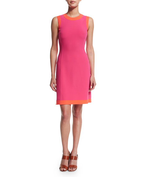 Michael Kors Collection Sleeveless Two-Tone A-Line Dress, Watermelon