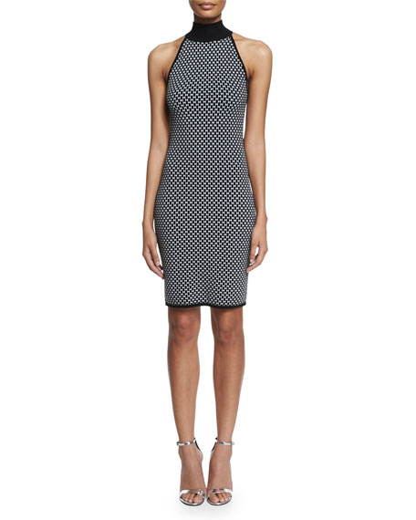 Michael Kors Collection Sleeveless Mock-Neck Sheath Dress, Black