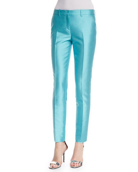 Michael Kors CollectionSamantha Mid-Rise Ankle Pants, Harbor