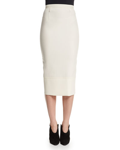 Galaxy Fitted Pencil Skirt, White