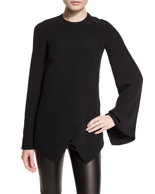 3680b3703 Ralph Lauren Collection Mulberry Silk Cady Long-Sleeve Top