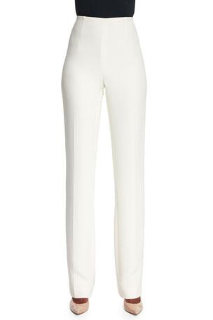 Ralph Lauren Collection Alandra Straight-Leg Pants, Cream