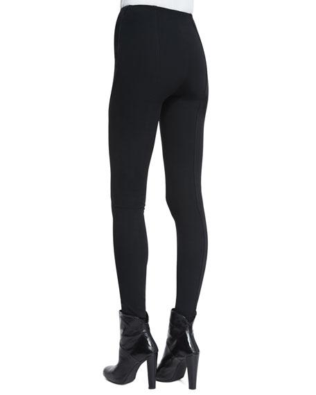 Leland High-Waist Skinny Pants, Black