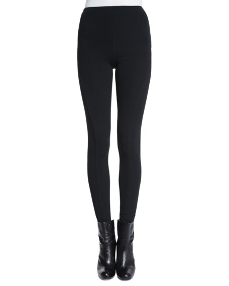 Ralph Lauren Collection Leland High-Waist Skinny Pants, Black