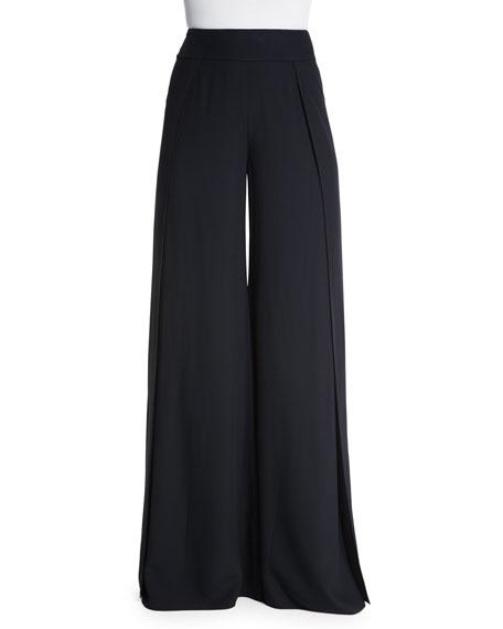 Ralph Lauren Wide-Leg High-Waist Pants, Black