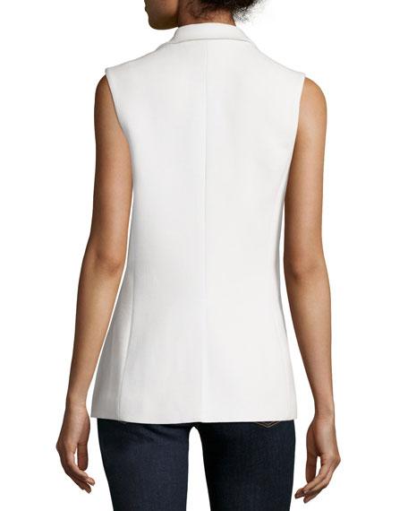 Button-Front Vest, Cream