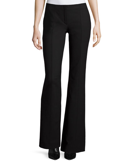 Nina Ricci Low-Rise Boot-Cut Pants, Black