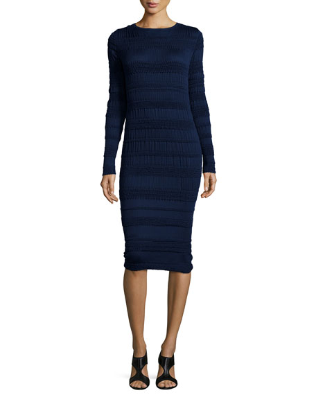 Nina Ricci Long-Sleeve Banded Dress, Ink