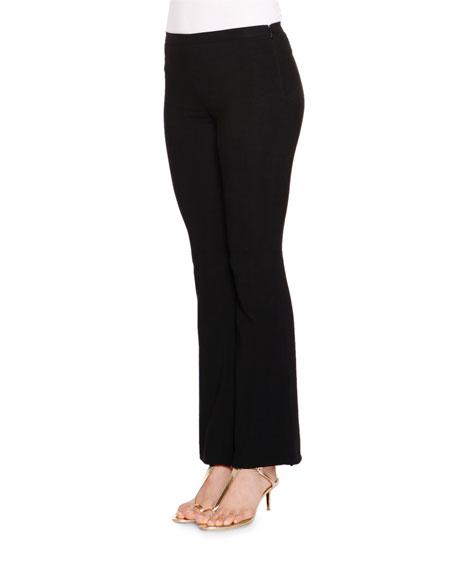 Emilio Pucci Mid-Rise Flare-Leg Pants, Black