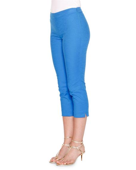 Emilio Pucci Mid-Rise Cropped Pants, Lapiz