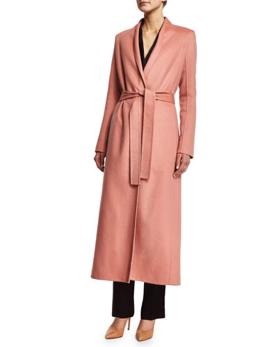 THE ROW Belton Long-Lean Coat, Cinder Rose