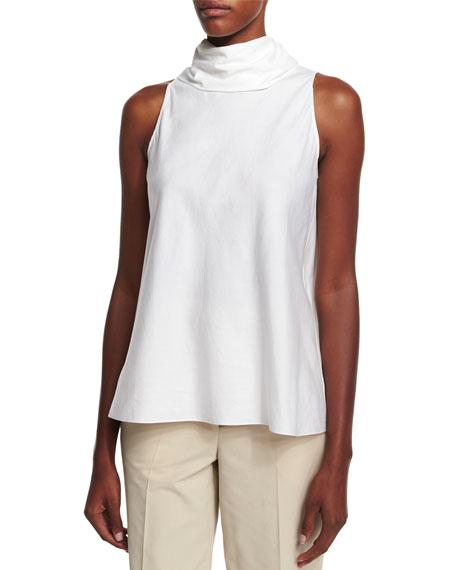 THE ROW Luna Tie-Back Sleeveless Top, White