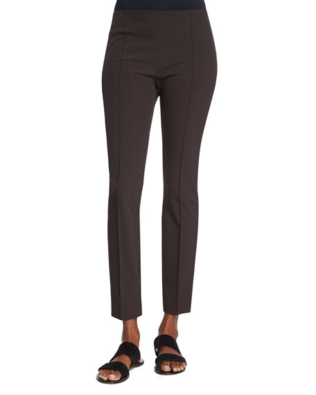 THE ROW Skinny-Leg Ankle Pants, Cigar (Choco)