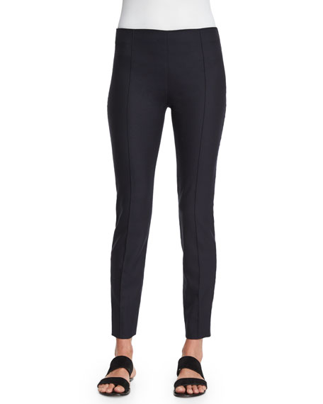 THE ROW Caro Mid-Rise Ankle Pants, Dark Navy