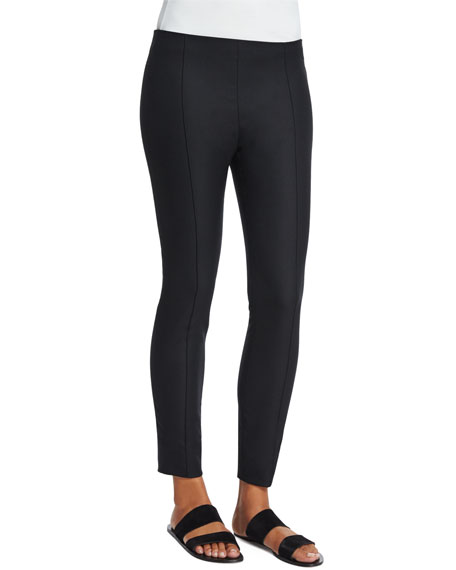 THE ROW Caro Mid-Rise Ankle Pants, Black