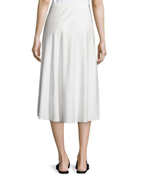 THE ROW Zedela A-Line Midi Skirt, Off White