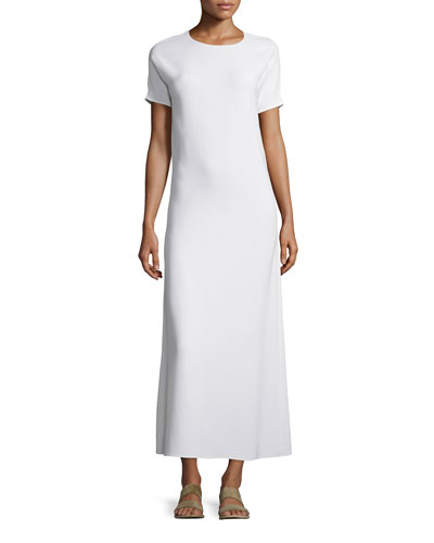 THE ROW Statell Short-Sleeve Dress, White