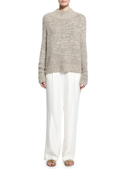 Daray Wide-Leg Trousers, Off White