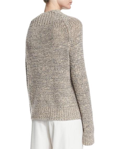 Hetty Funnel-Neck Sweater, Black/White