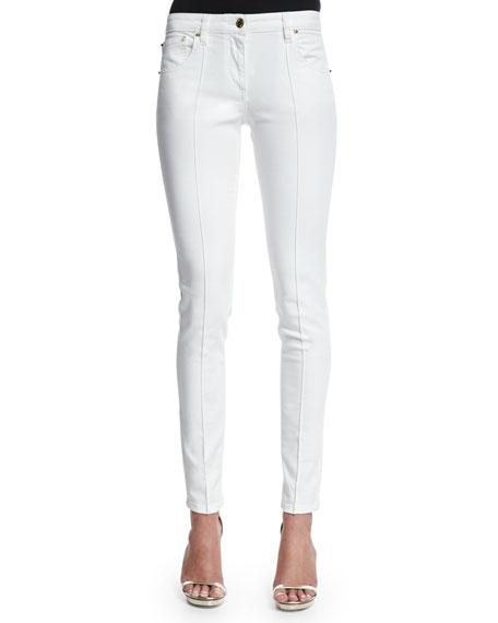Roberto Cavalli Skinny-Leg Ankle Jeans, Optic White