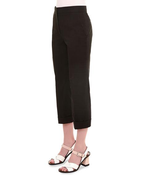 Jil Sander Long-Sleeve Oversized Trenchcoat, Skinny-Stripe